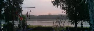Erlangen. am Morgen bedeckt nach Regen