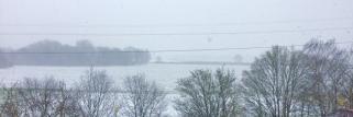 Schneefall bei München