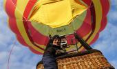 24.April 2017  Sollfahrt in einem kleinen Heißluftballon