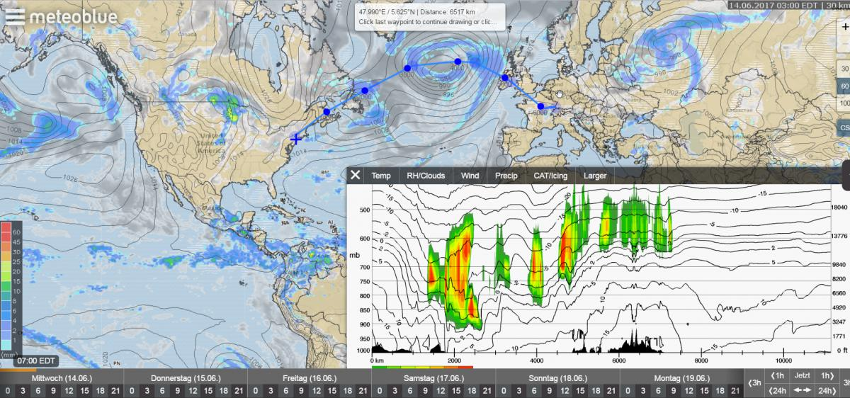 Ocean Weather Map.New Cross Sections Within Weather Maps Are Available Worldwide Now