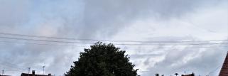 heubergwetter: nachts regen, jetzt wolken mit etwas sonne.