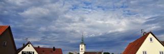 heubergwetter: wolkig mit sonne.