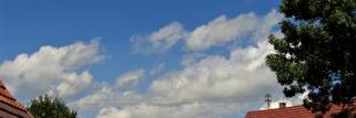 heubergwetter; sonne und quellwolken.