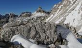 On the path underneath the Tre Cime di Lavaredo, looking in direction of Rifugio Locatelli / Drei Zinne Hütte