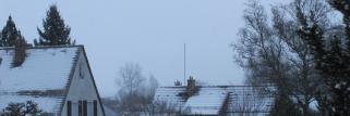 Es fängt an zu fetzeln-leichter Schneefall!