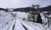 Journée hivernale avec fréquente giboulées de neige. Vent fort sous les grains +2°