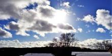 heubergwetter: morgens, viel sonne, blauer himmel, aber kalt.