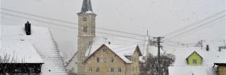 heubergwetter: es schneit, als ob es verboten würde.