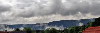 heubergwetter: wolkig mit sonnigen abschnitten.