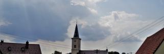 heubergwetter: mehr wolken als sonne, aber warm.