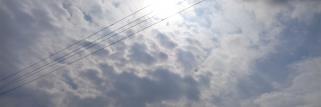 noch wolken , aber die sonne kommt langsam.