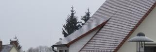 Grau in grau und leichter Schneefall !