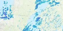 Precipitation radar for Scandinavia