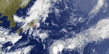 Typhoon Halong around Japan