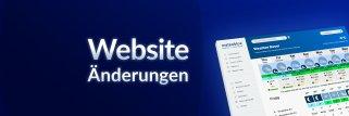 meteoblue Website Änderungen