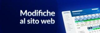 modifiche al sito Web meteoblue