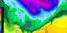 Arctic cold outbreak in North America