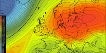 Cold air outbreak across east-central Europe