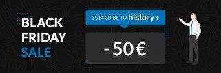 Suscripciones de history+ con 50 € de descuento.
