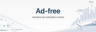 assinatura Ad-free  do site meteoblue